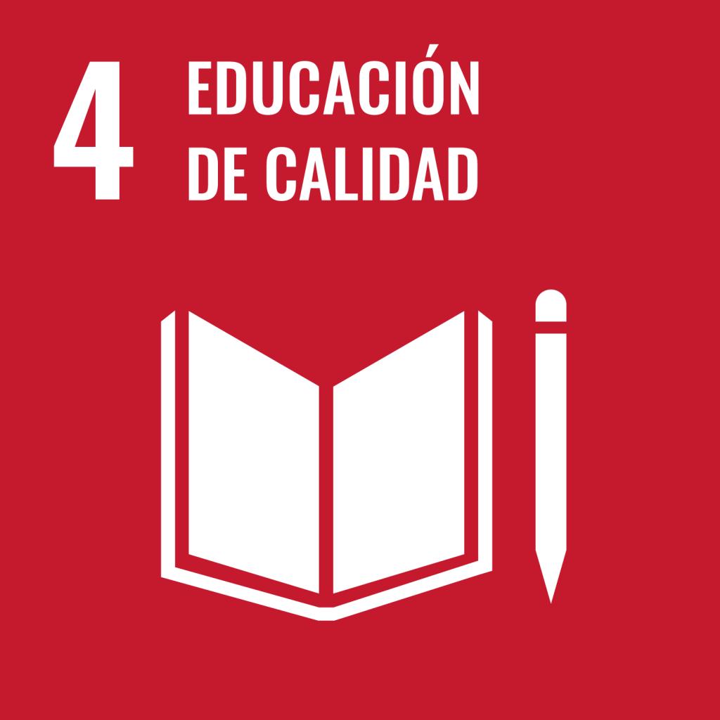 Icono del Objetivo de Desarrollo Sostenible Educación de calidad