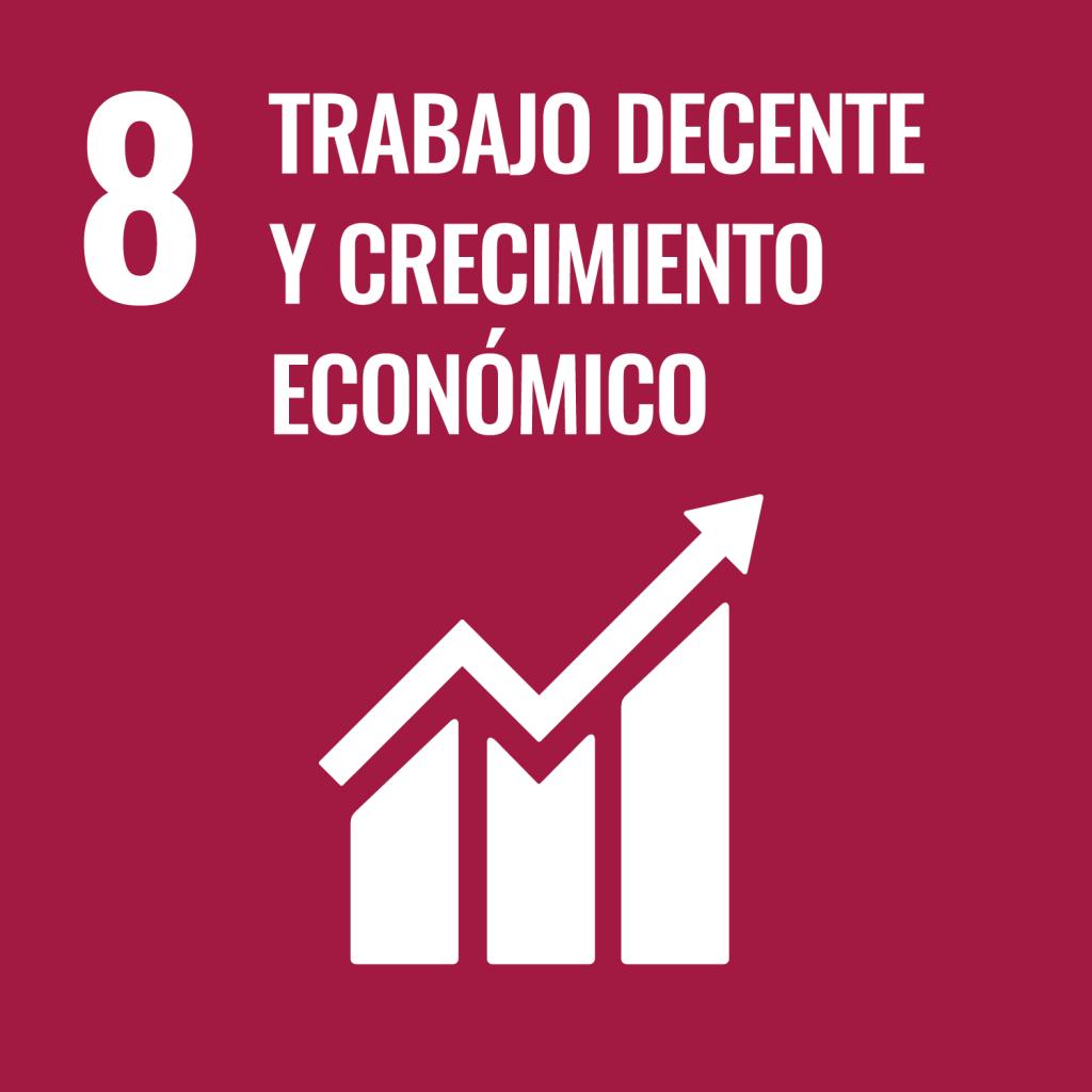 Icono del Objetivo de Desarrollo Sostenible Trabajo decente y crecimiento económico