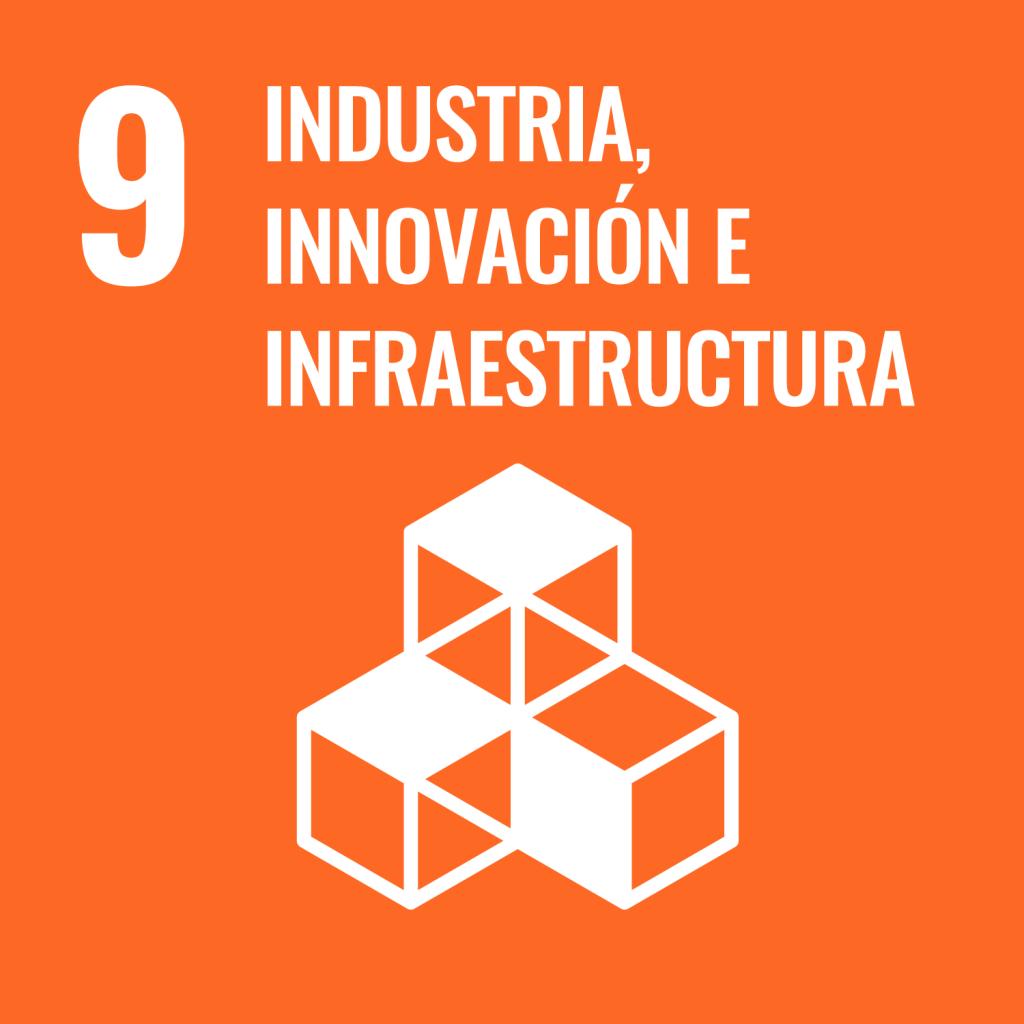 Icono del Objetivo de Desarrollo Sostenible Industria innovación e infraestructura