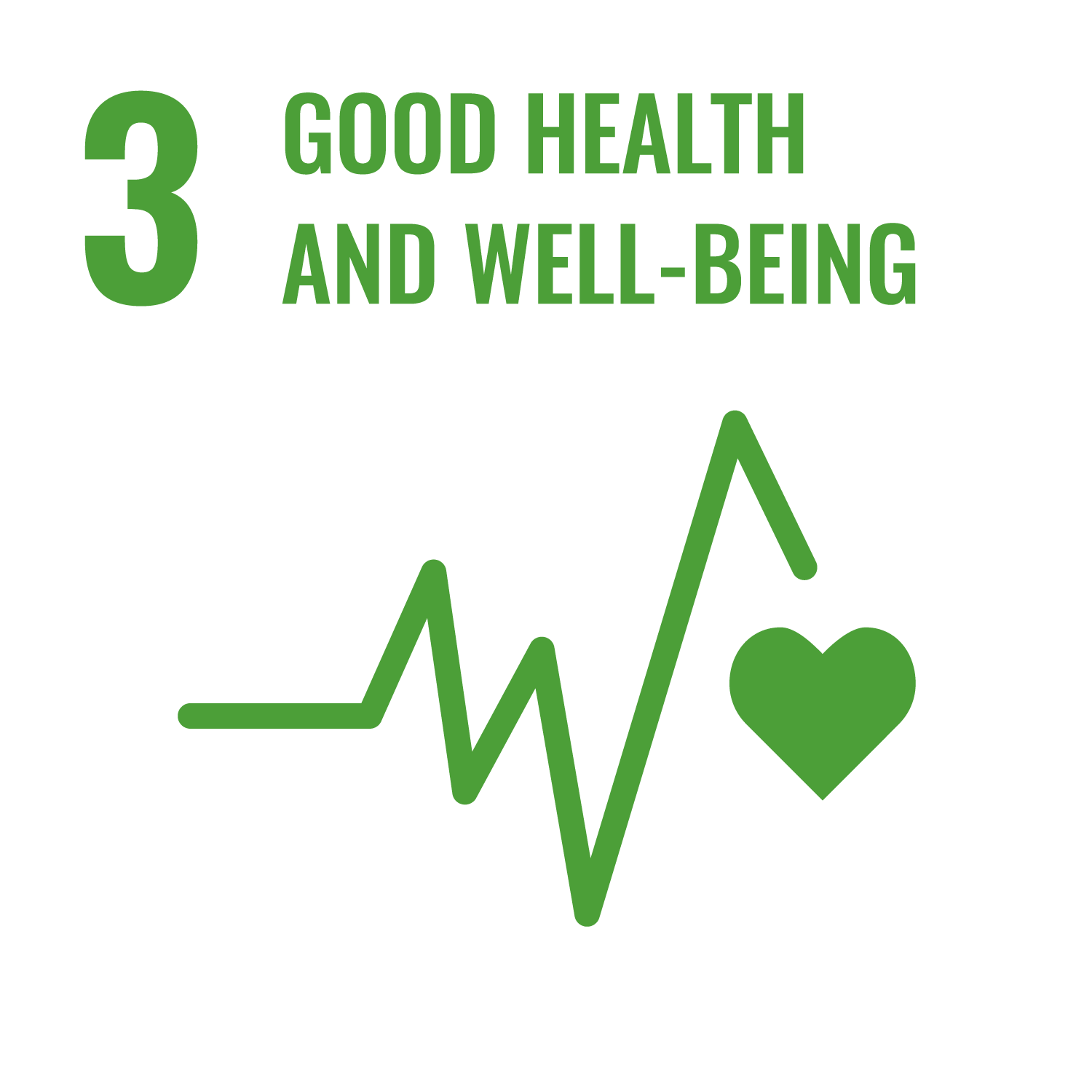 Icon for the Sustainable Development Goal Good health and well-being
