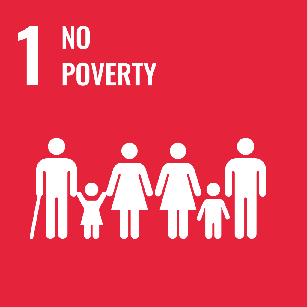 Icon for the Sustainable Development Goal No poverty