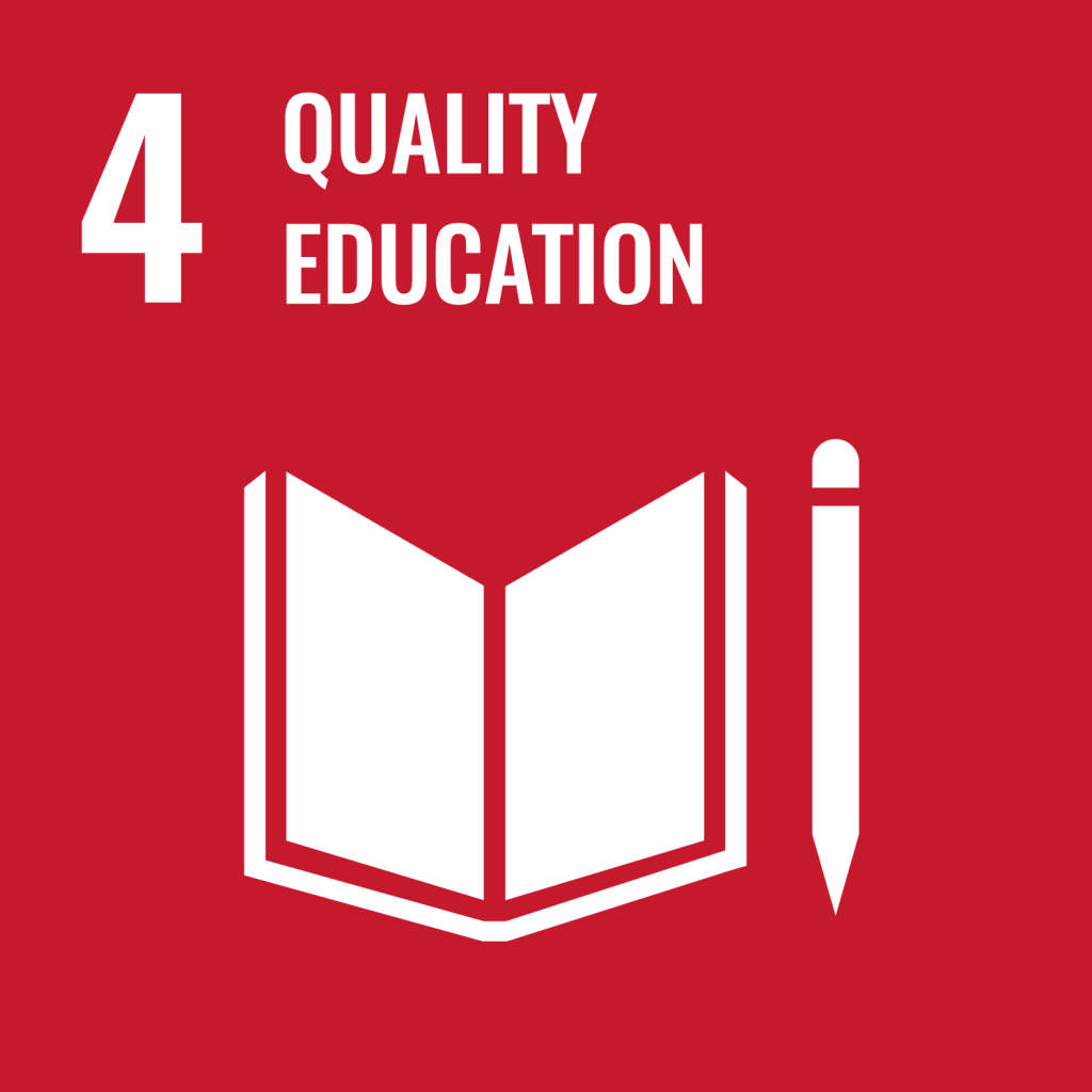 Icon for the Sustainable Development Goal Quality education