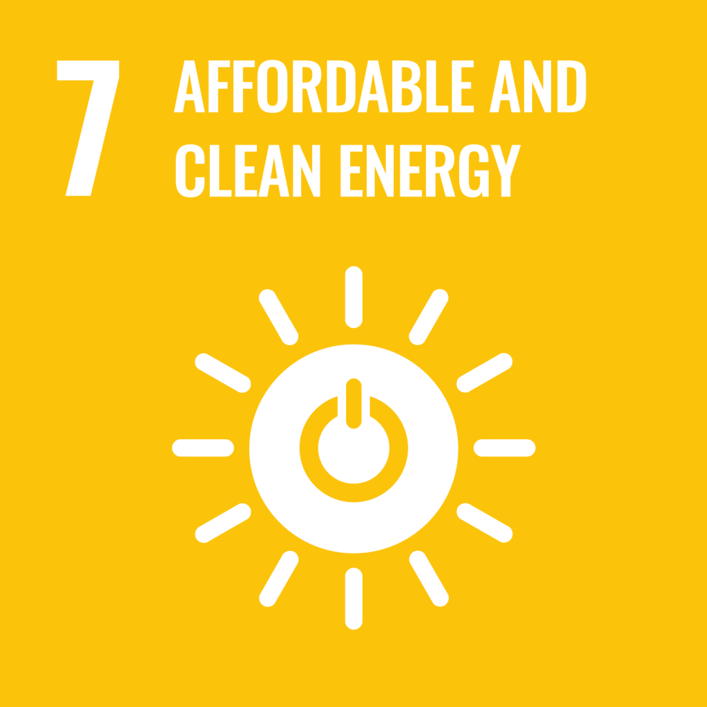 Icon for the Sustainable Development Goal Affordable and clean energy