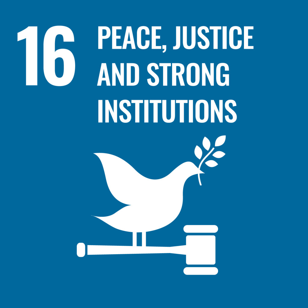 Icon for the Sustainable Development Goal Peace justice and strong institutions