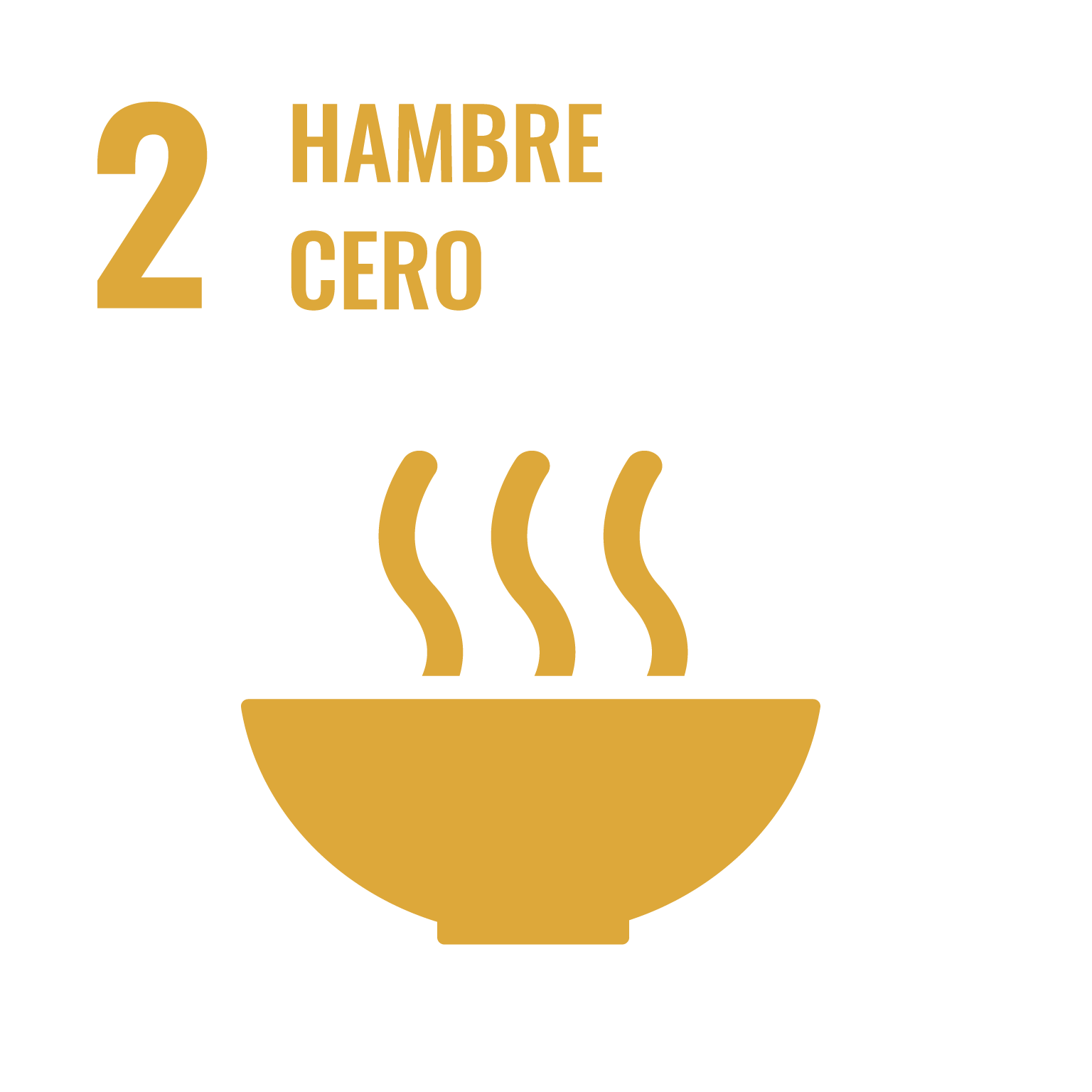 Icono del Objetivo de Desarrollo Sostenible Hambre cero