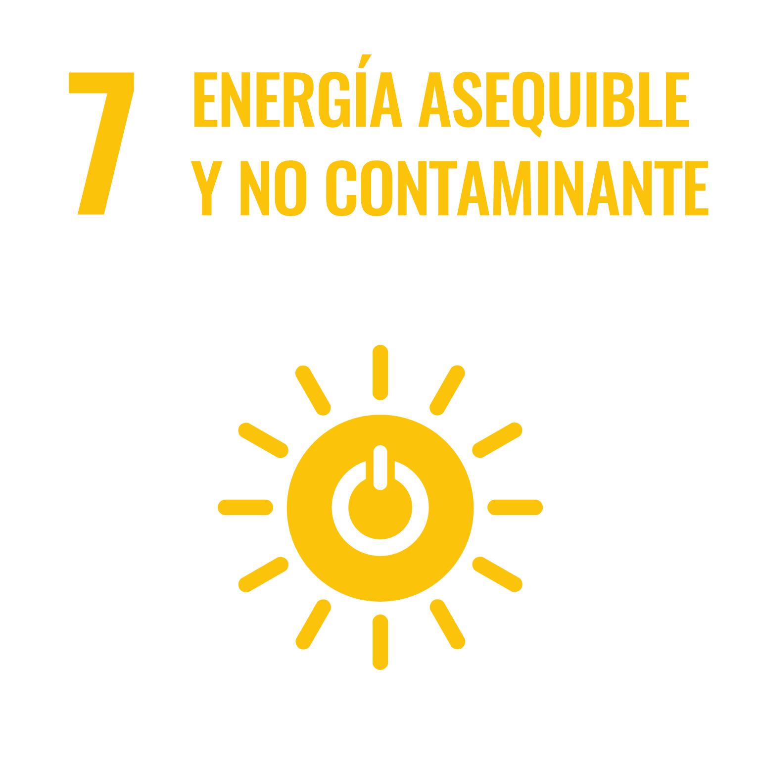 Icono del Objetivo de Desarrollo Sostenible Energía asequible y no contaminante