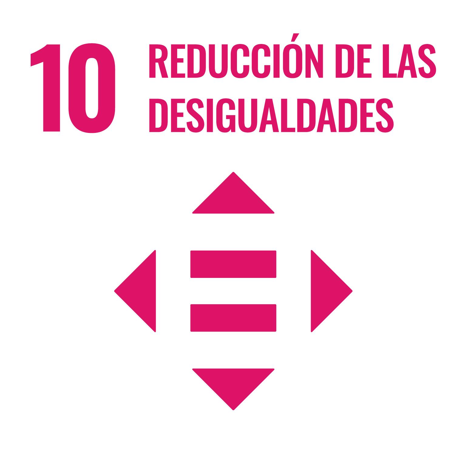 Icono del Objetivo de Desarrollo Sostenible Reducción de las desigualdades