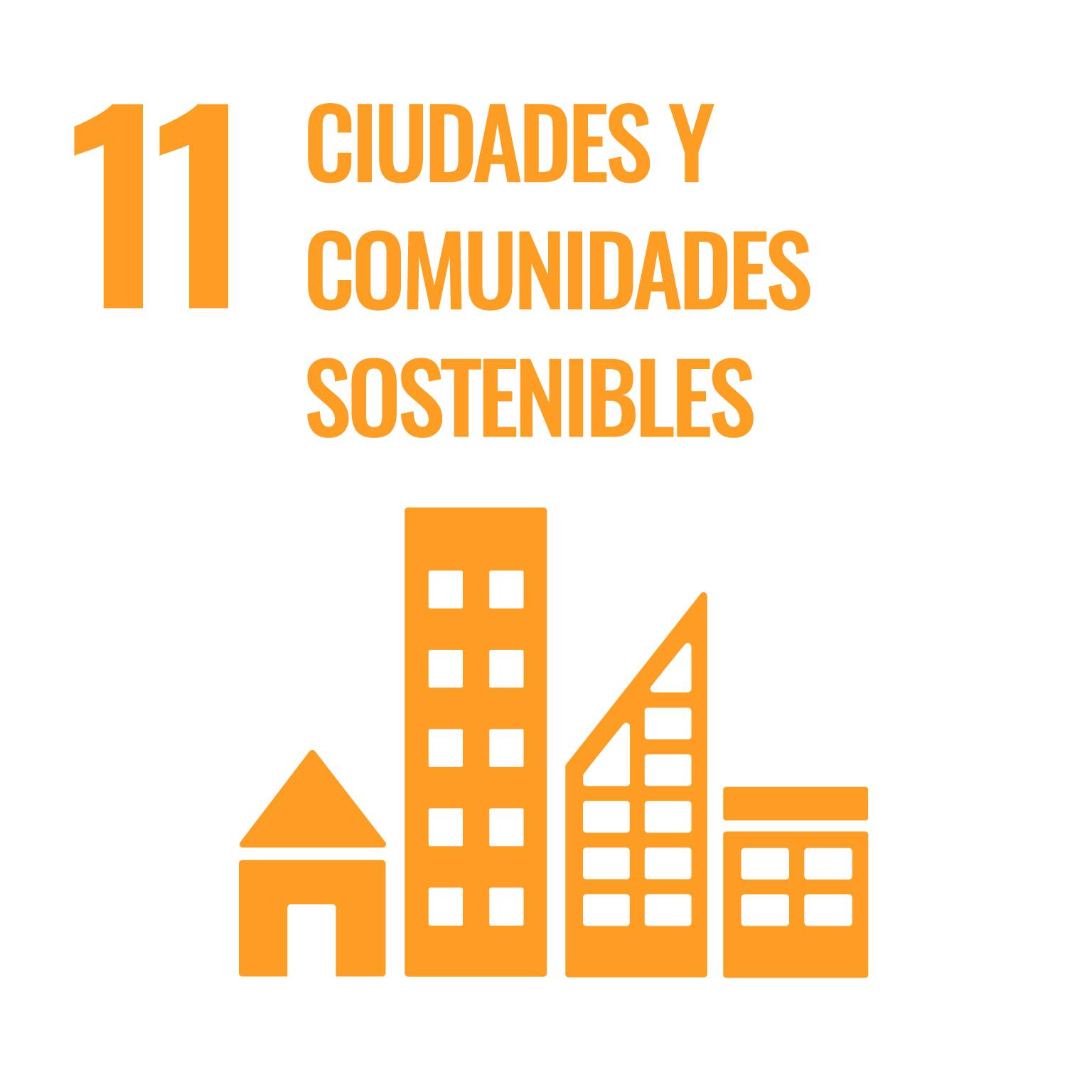 Icono del Objetivo de Desarrollo Sostenible Ciudades y comunidades sostenibles