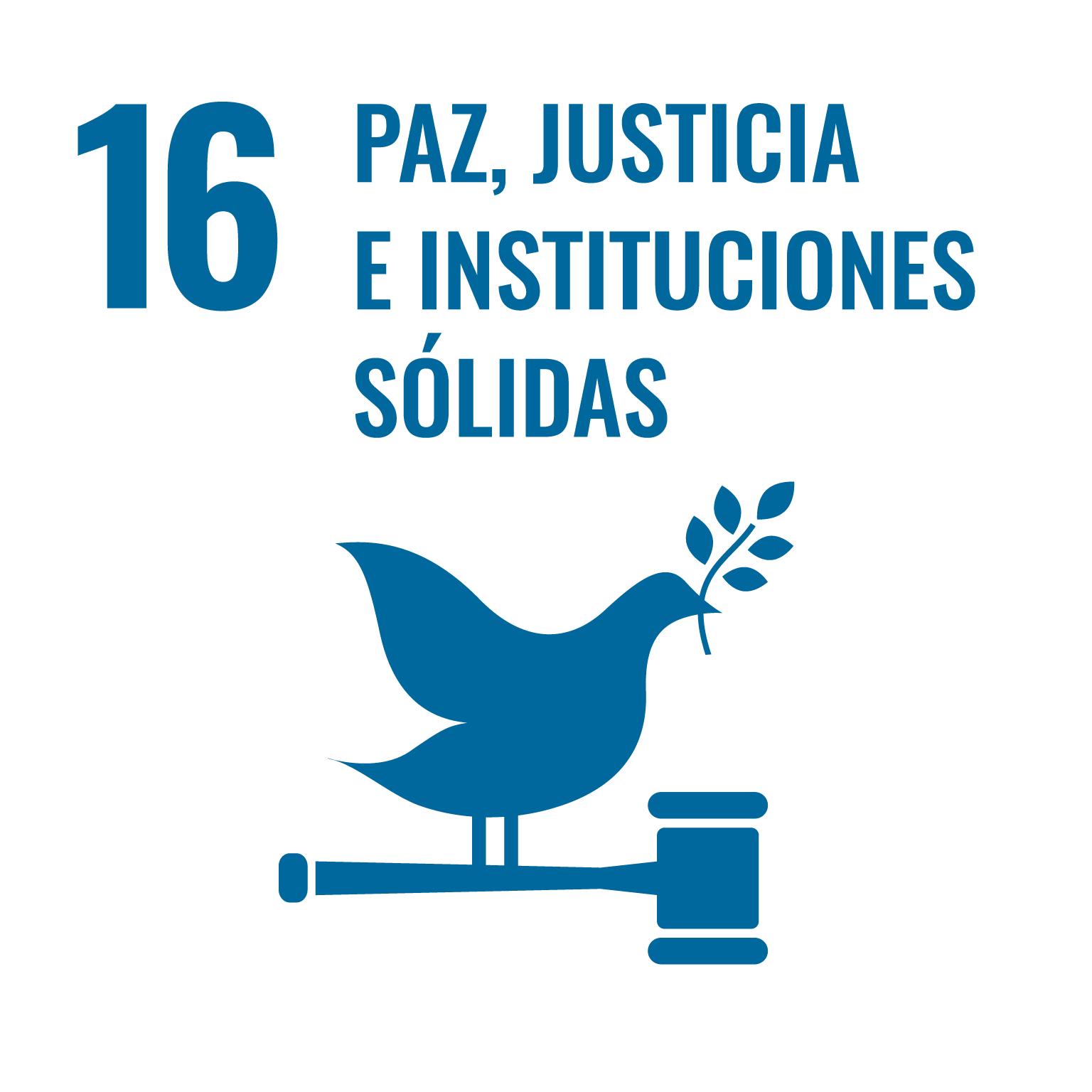 Icono ODS16 Paz justicia e instituciones sólidas