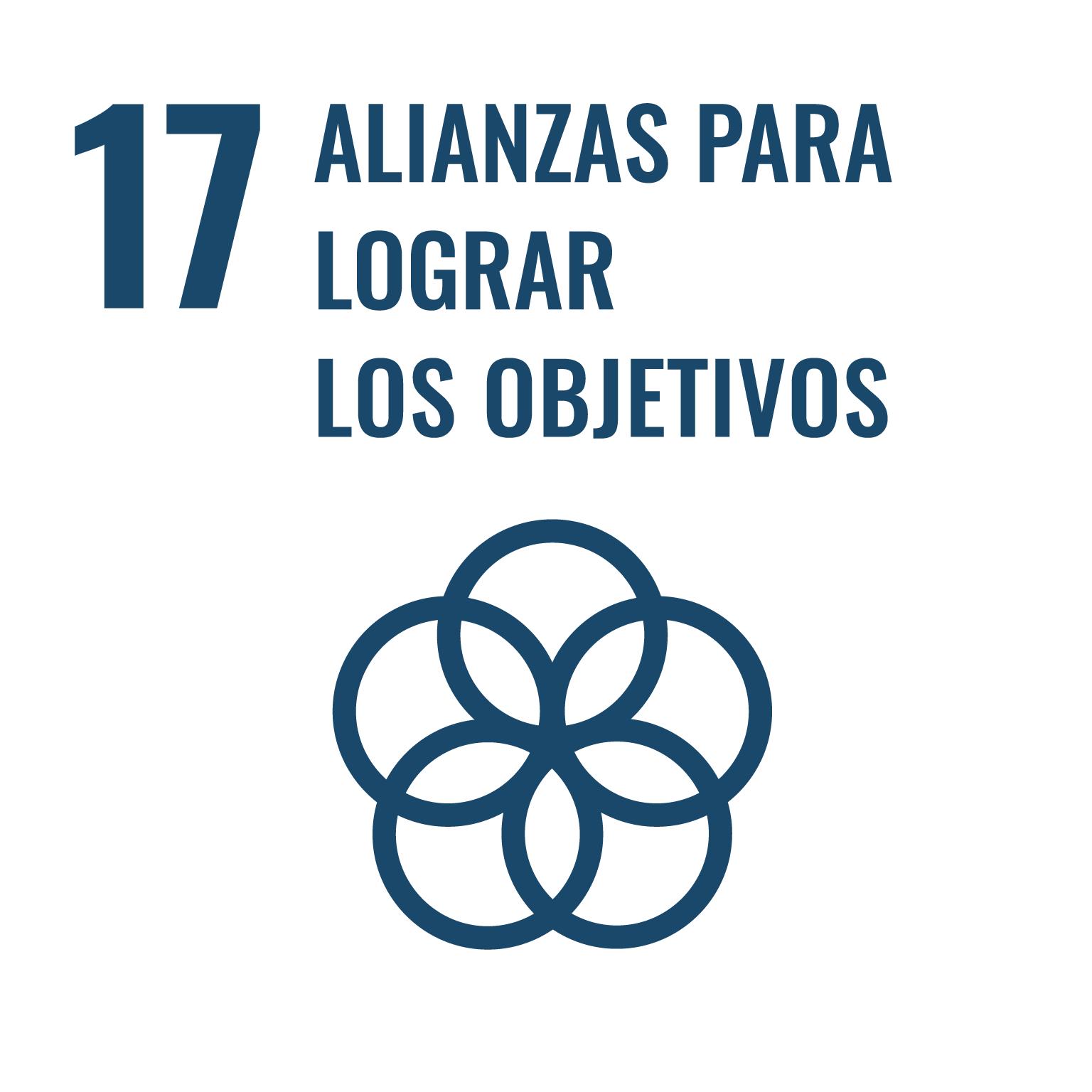 Icono del Objetivo de Desarrollo Sostenible Alianzas para lograr los objetivos